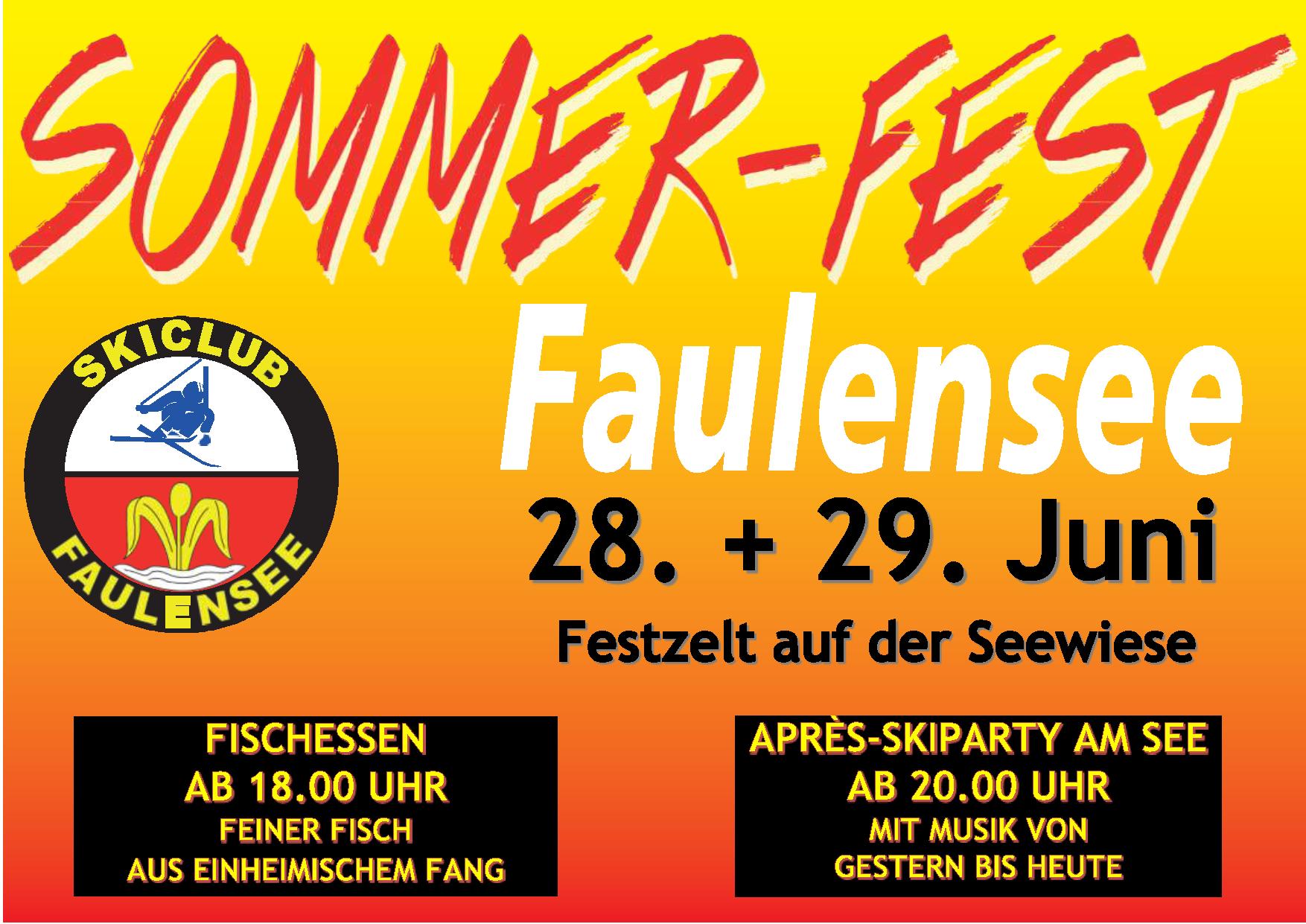 Sommerfest 28. - 29. Juni 2019